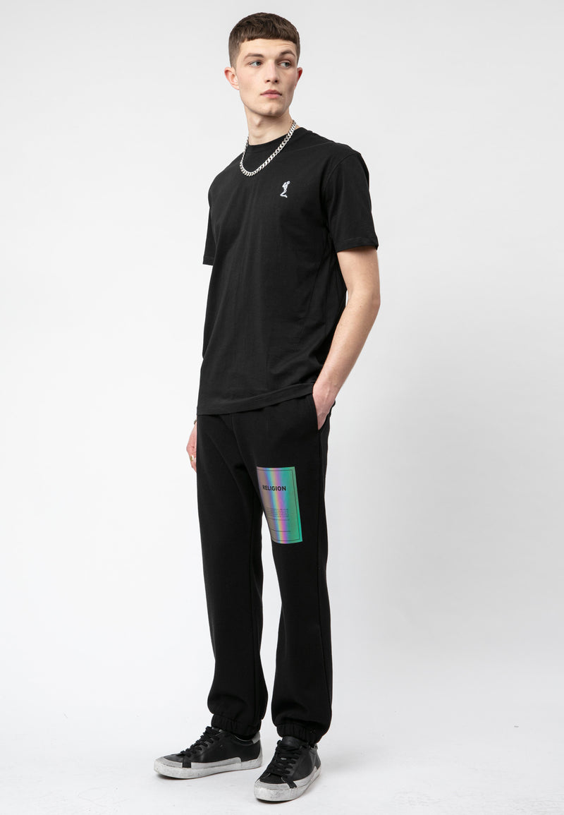 RELIGION Plain Oversized Black T-Shirt