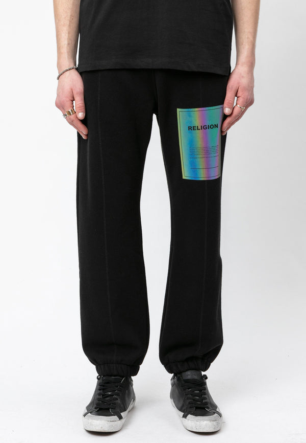 RELIGION Plain Relaxed Fit Black Pants