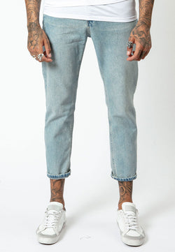 RELIGION Straight Leg Kick Jeans Crush Blue