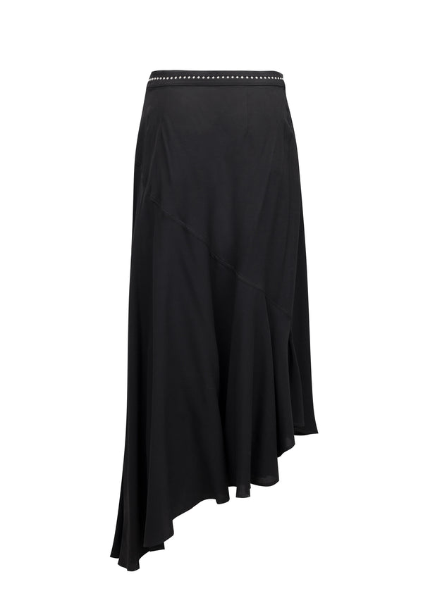 RELIGION Precious Black Maxi Skirt