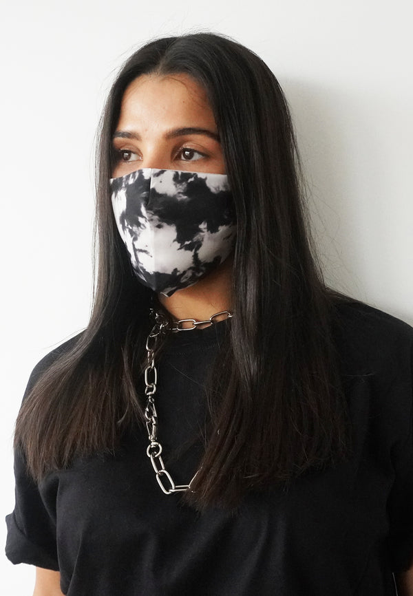 RELIGION Face Mask Tie Dye Black