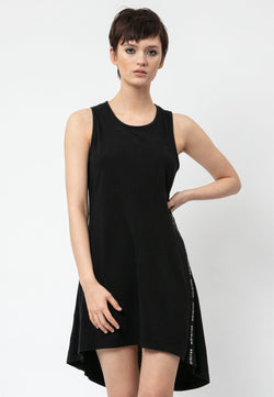 RELIGION Alive Open Back Black Dress