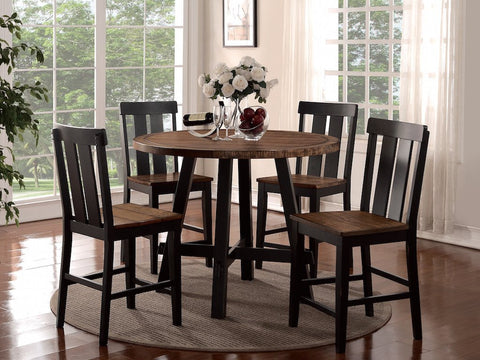 Rustic Look - Two Tone Table and Chairs