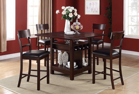 Transitional Style Table with Wine Rack