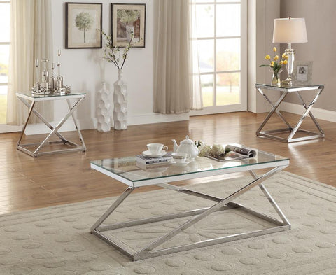 Chrome Coffee Table set