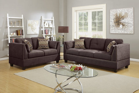 Merveilleux High Arm Sofa And Loveseat