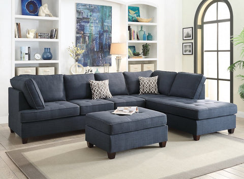 2Pc Sectional Sofa Chaise