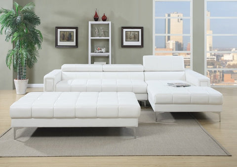 2Pc Leather Sectional