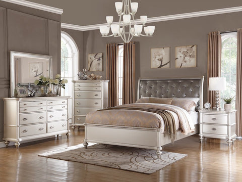 Magical Presence of antique silver bed frame