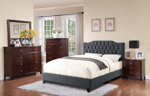 Arched Shaped Bedframe in Headboard Diamond Design