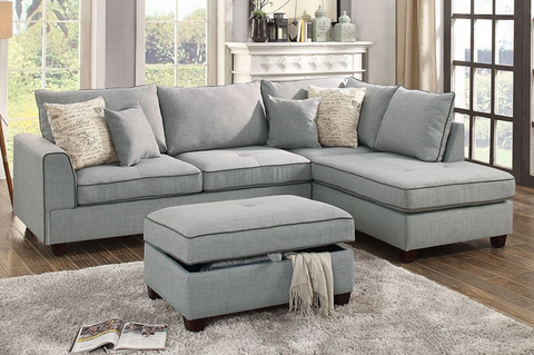 3pc Sectional + Ottoman