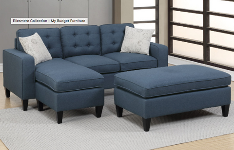 2PC Navy Sectional