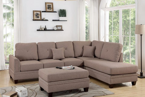 Cotton Blended Tufted Sectional
