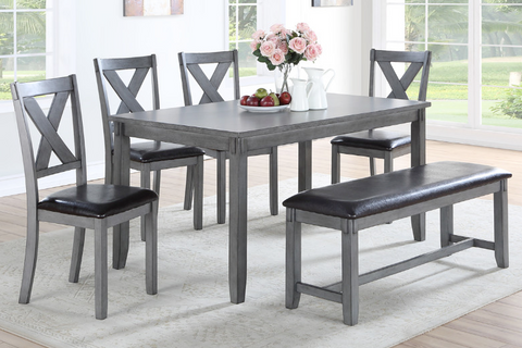 6Pc Casual Table, Chairs and Bench