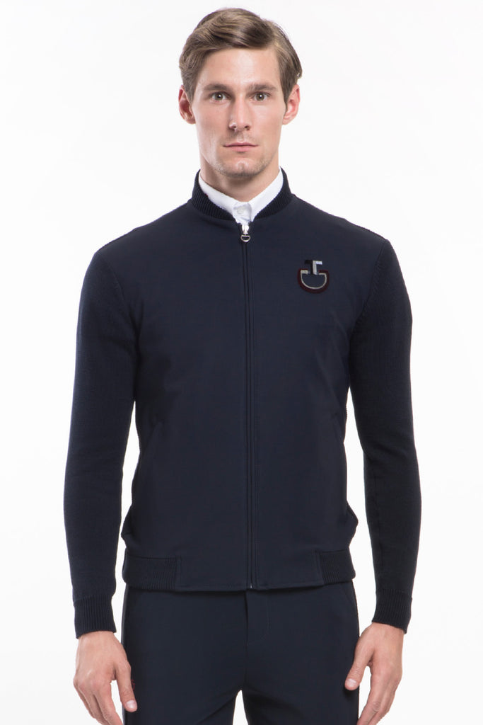 Cavalleria Toscana Perforated Technical Zip Sweater