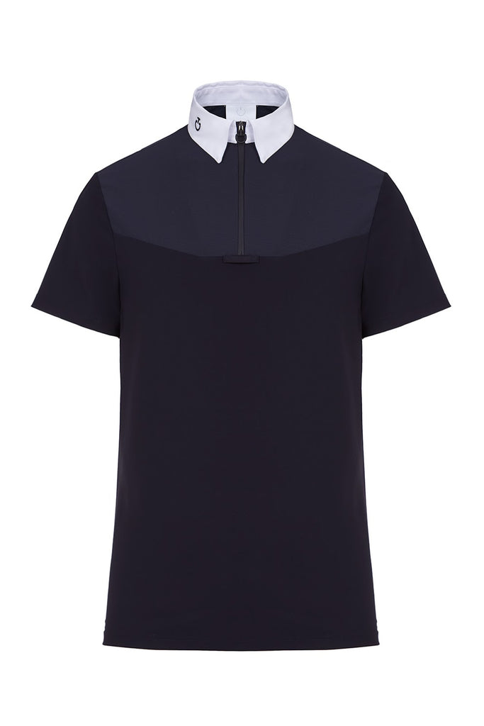 Cavalleria Toscana Origami Zip Competition Polo Shirt