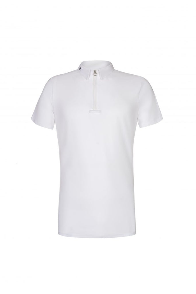 Cavalleria Toscana Jacquard-Knit Zip Competition Polo Shirt