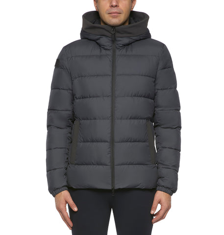 Cavalleria Toscana Mens Quilted Hooded Puffer Jacket