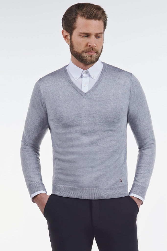 Cavalleria Toscana Tech Wool V-Neck