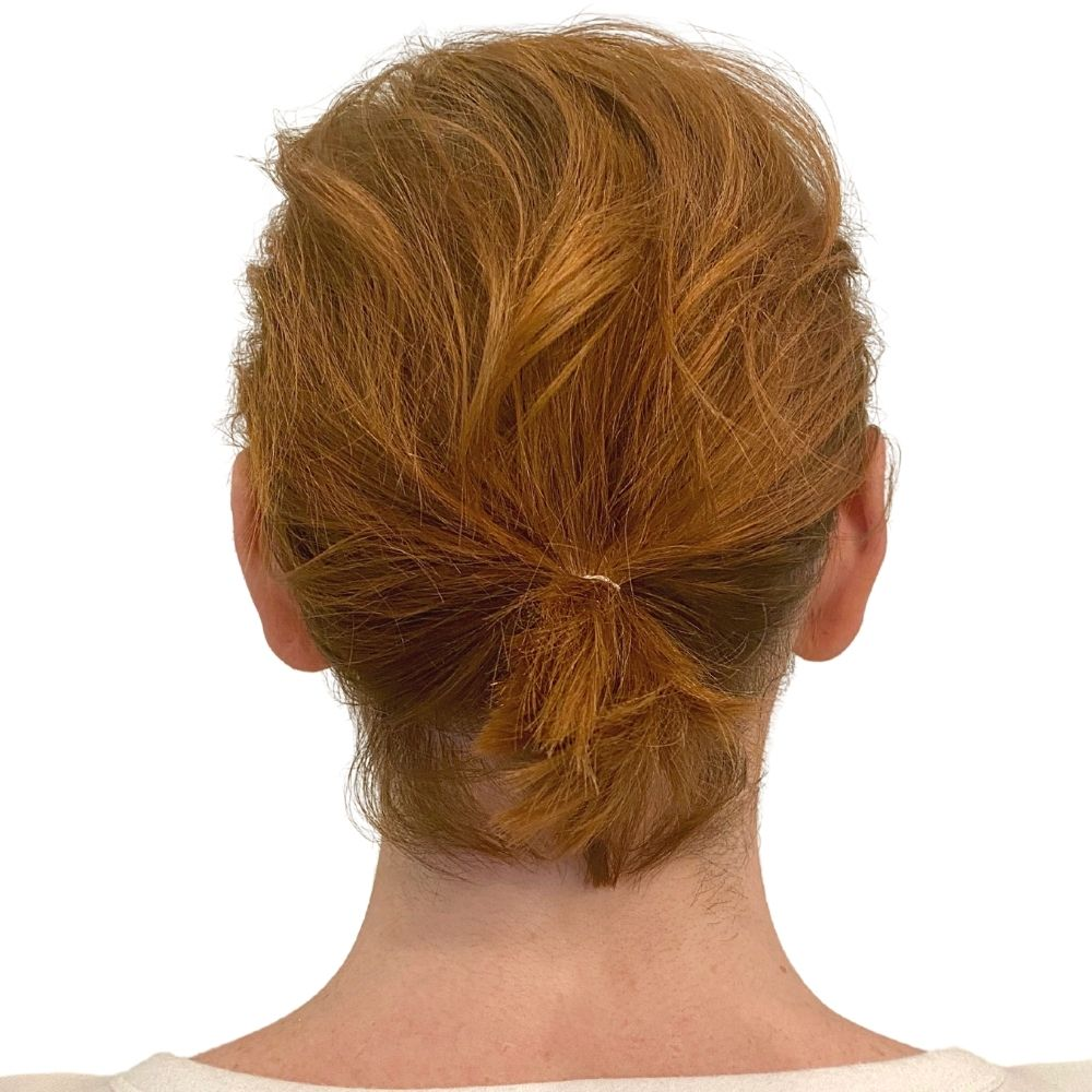 Golden Red Before Pic Easy Updo Extensions