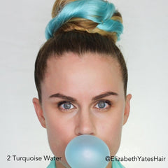 Turquoise Water Topknot Hair Easy Updo Extensions