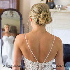 Blonde Short Hair Bridal or Occasion Updo