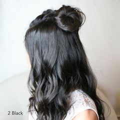 Black Halfup Topknot Hairstyle Easy Updo Extensions