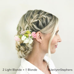 Blonde French Braided Bun Easy Updo Extensions