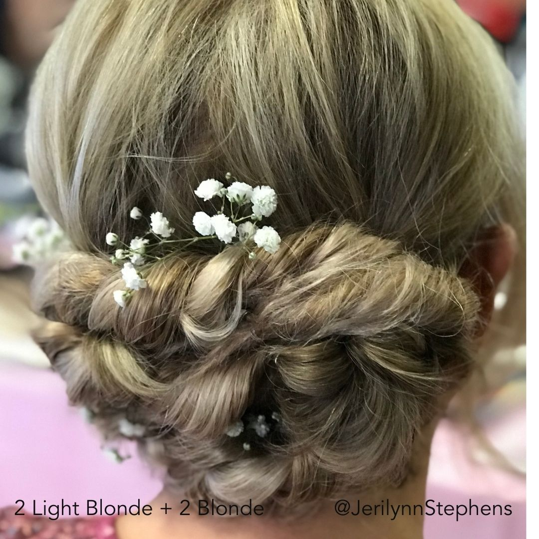 Short Blonde Fancy Updo After Easy Updo Extensions