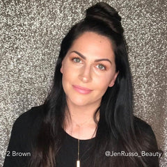 Brown Half Up Half Down Easy Updo Extensions