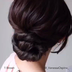 Brown Fancy Updo for Short Hair Easy Updo Extensions