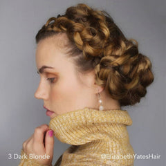 Dark Blonde Braided Headband Easy Updo Hair Extensions