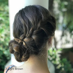 Light Brown Braided Bun Easy Updo Extensions