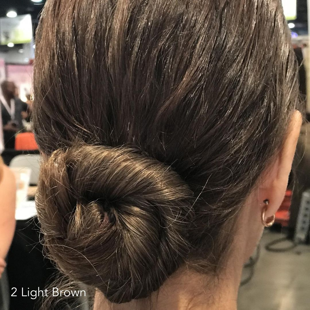 Short Hair Twisted Bun After Easy Updo Extensions