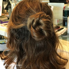 Light Brown Twisted Bun Easy Updo Extensions