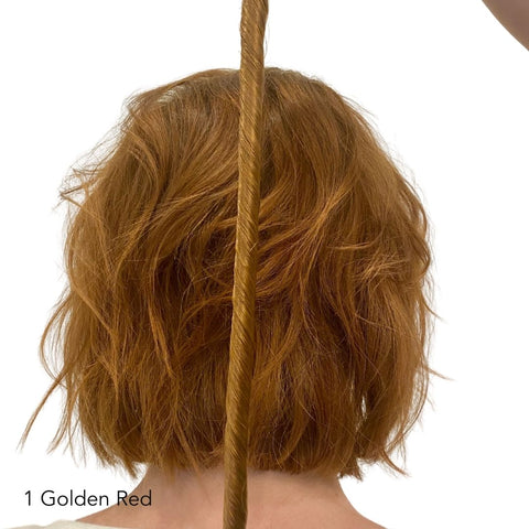 Golden Red Hair Extensions Easy Updo Extensions