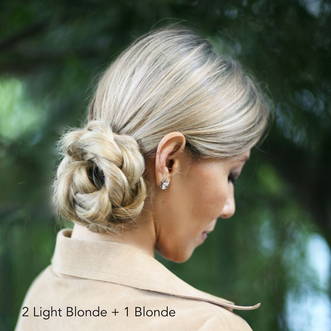Light Blonde Braided Updo Easy Updo Extensions Tan Coat