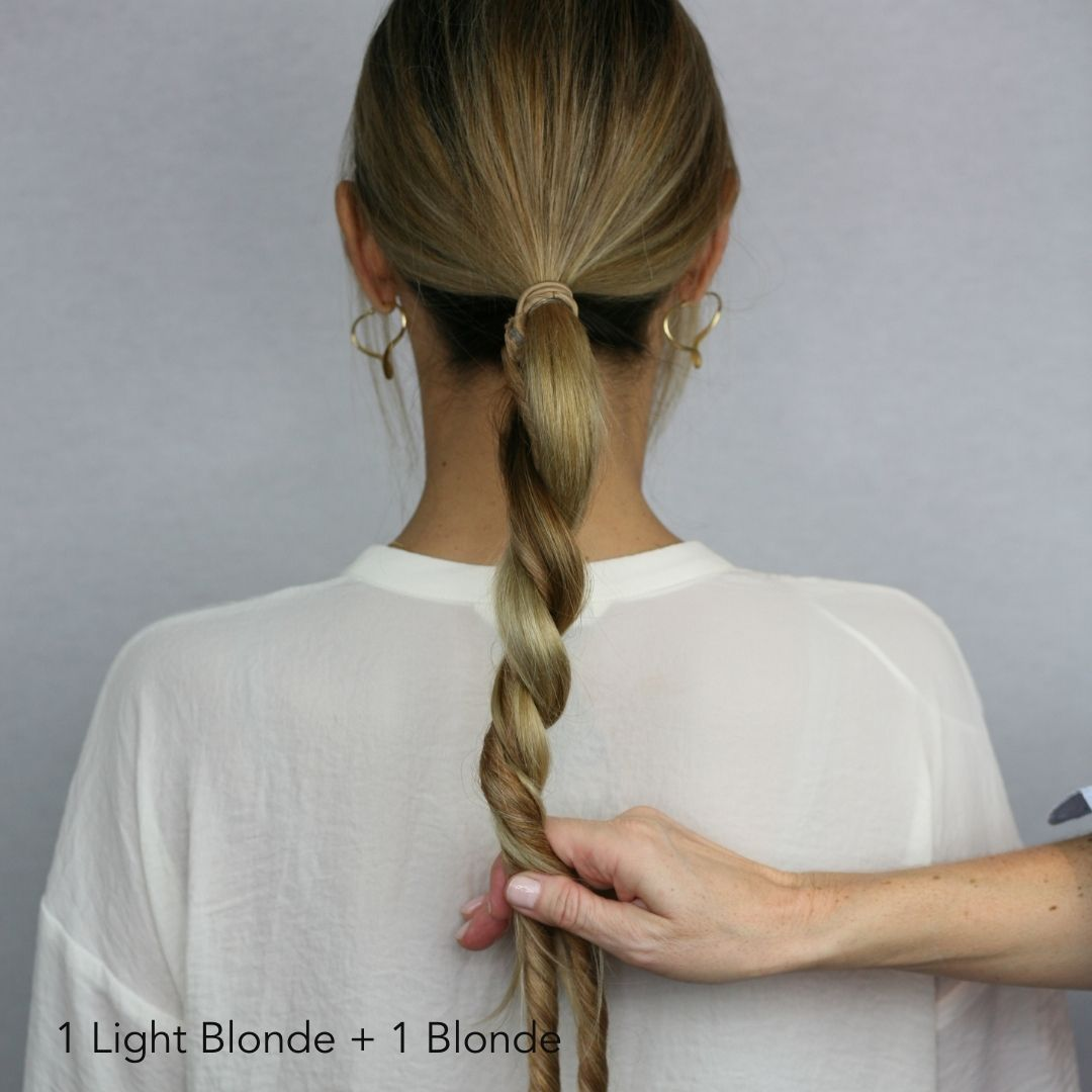 Light Blonde Volume Twists Easy Updo Extensions