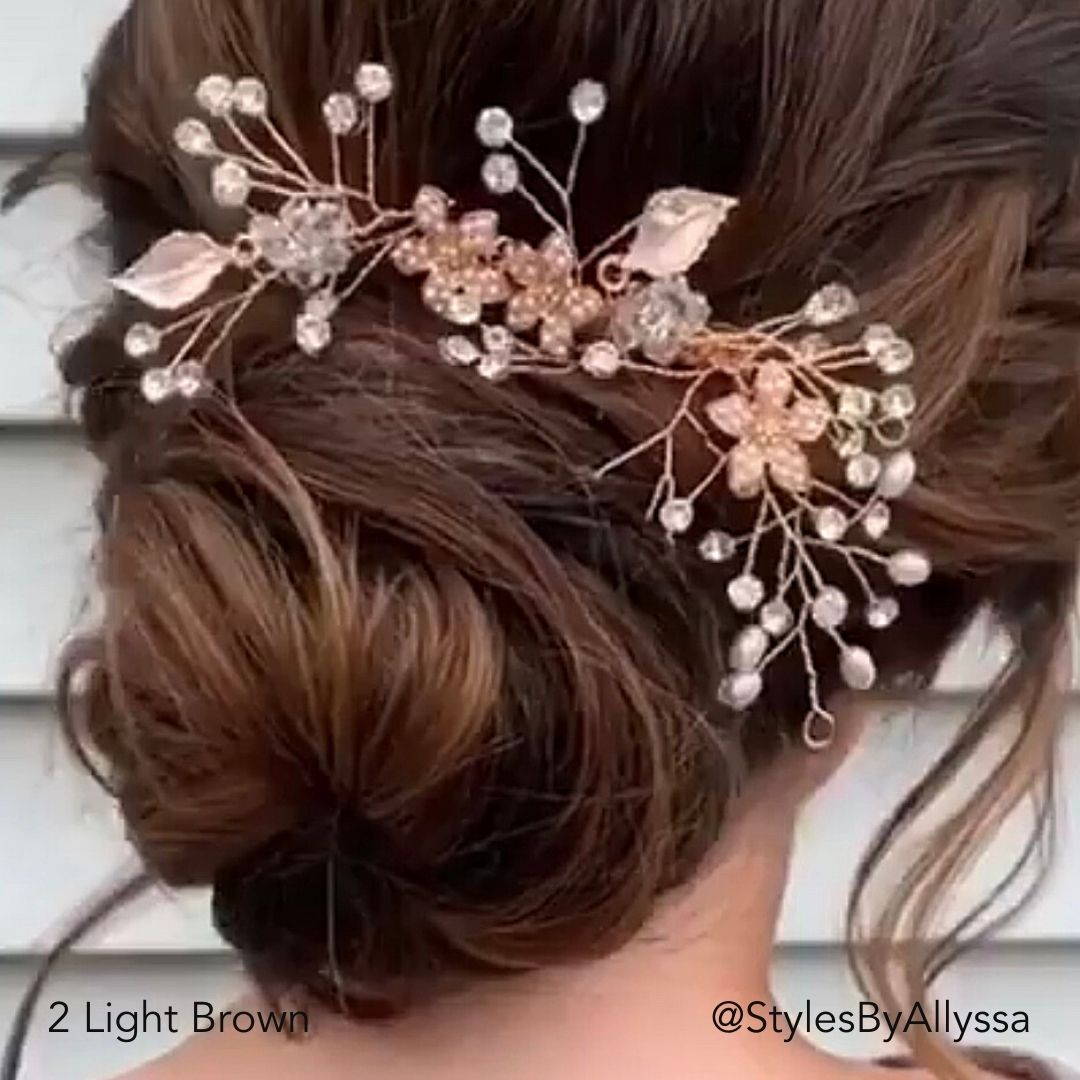 Brown Special Occasion Bridal Updo Bun Hairstyle @Stylesbyallyssa Easy Updo Hair Extensions