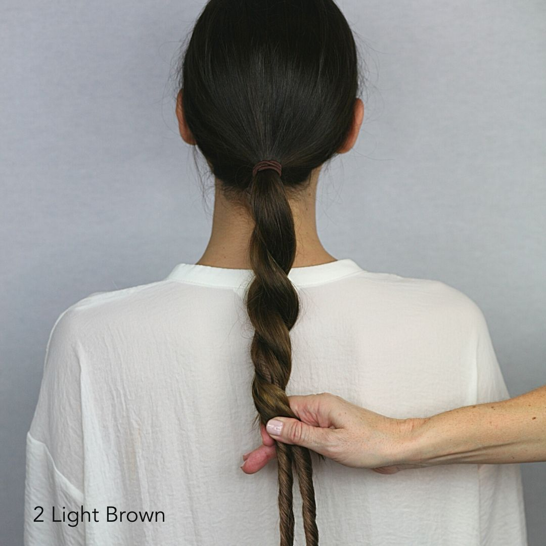 Brown Twisted Volume Easy Updo Extensions