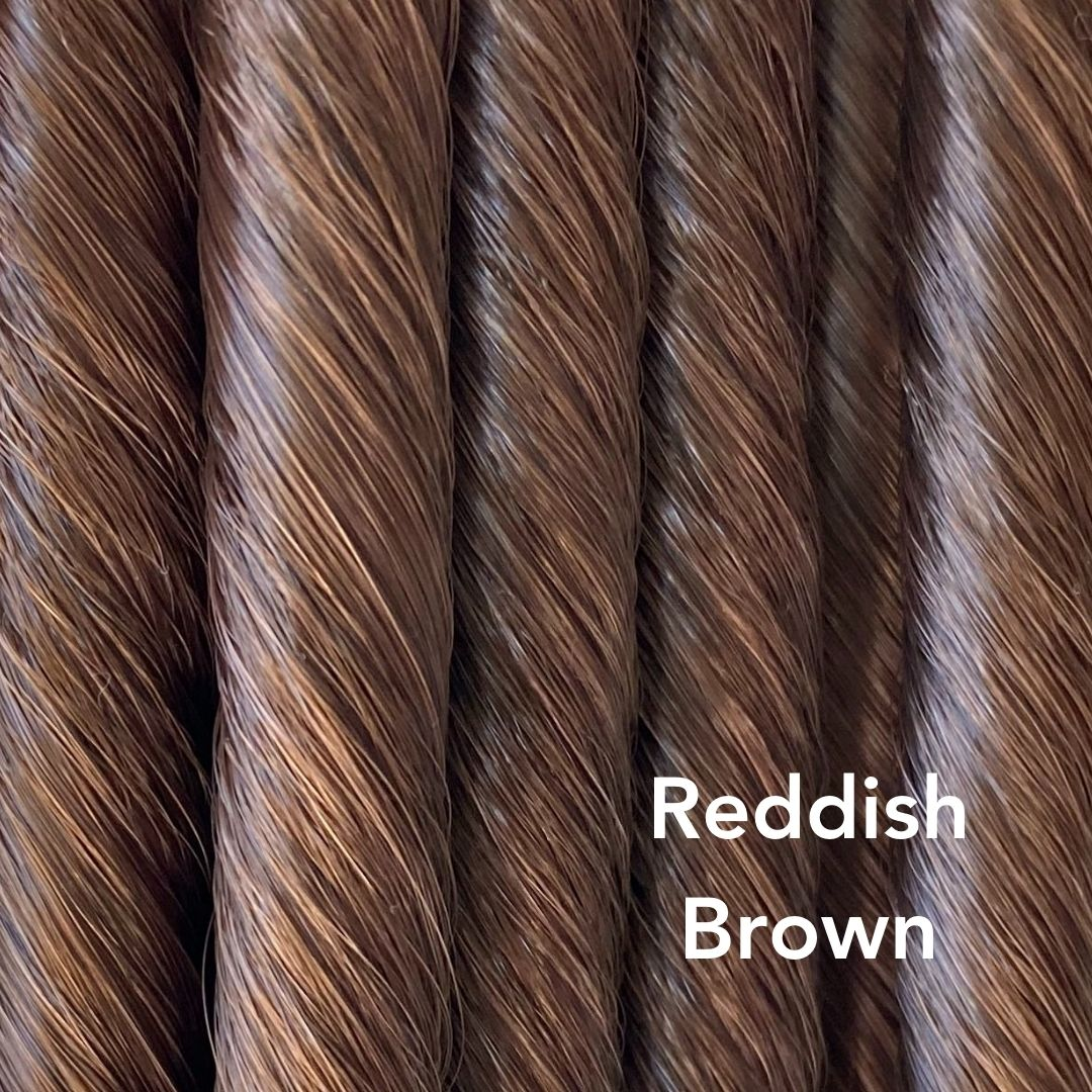 Reddish Brown Brassy brown color swatch for Easy Updo Extensions