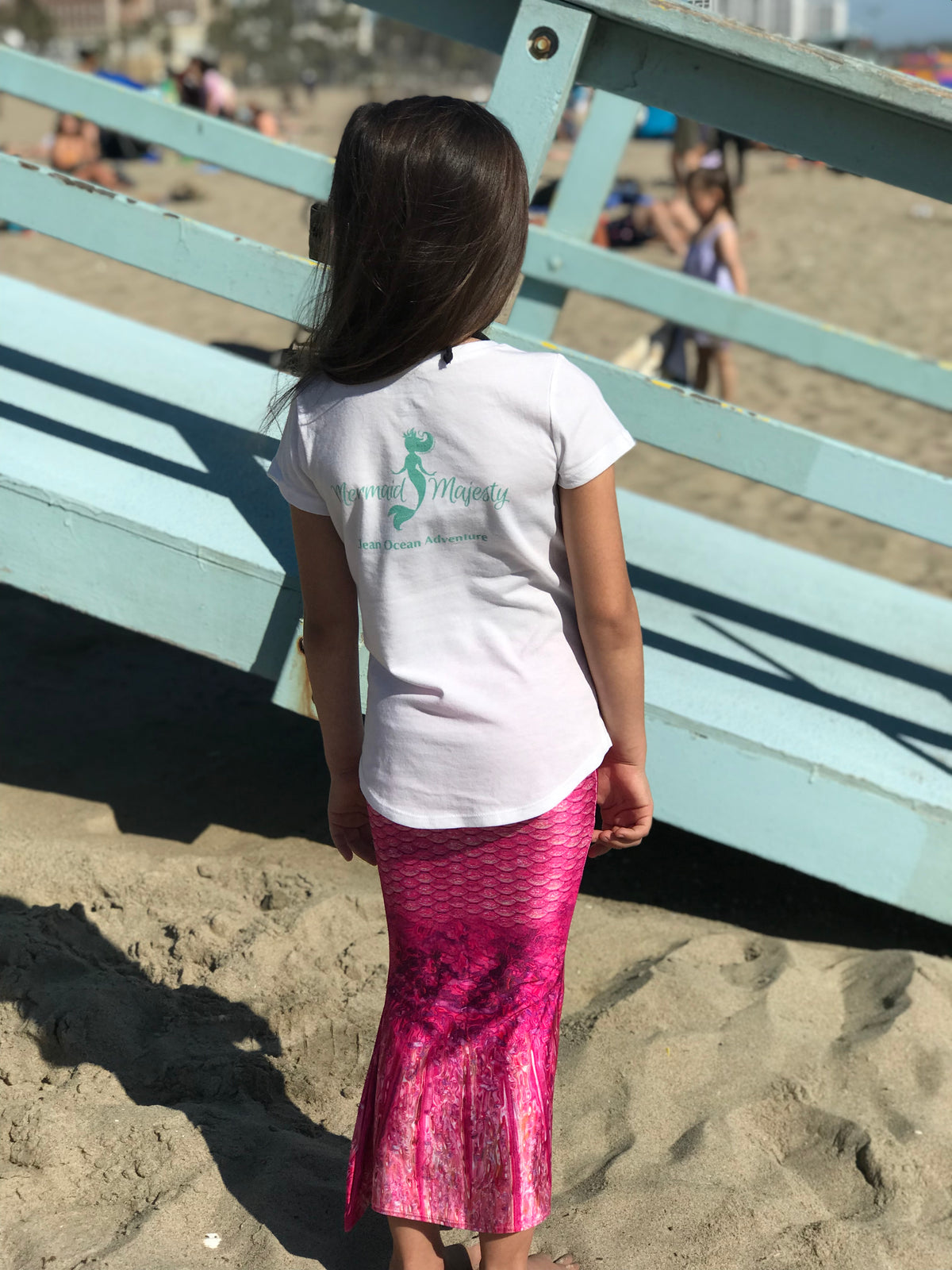 Mermaid Majesty Girl's Pocket T