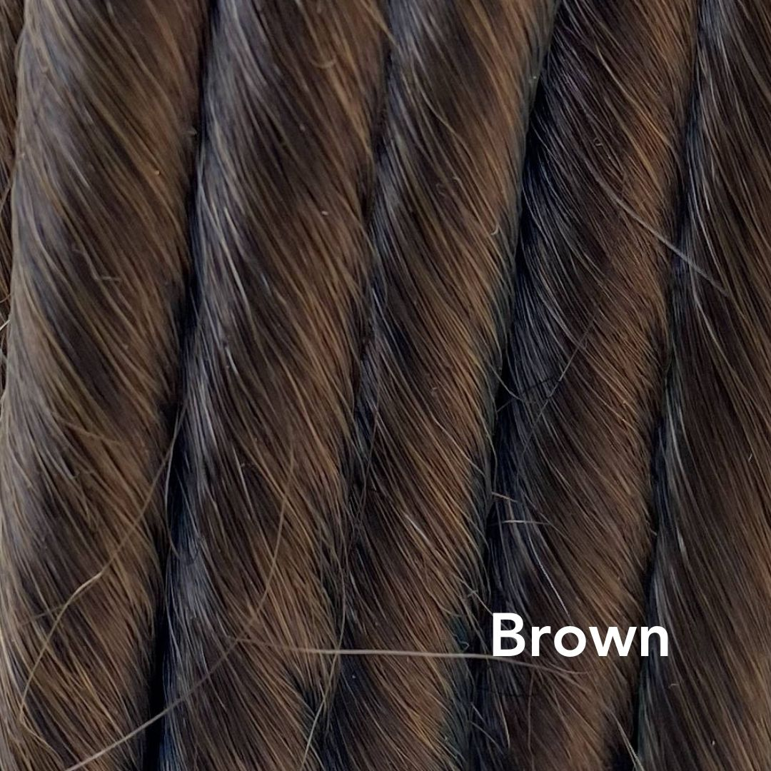 Brown Colored Easy Updo Hair Extensions
