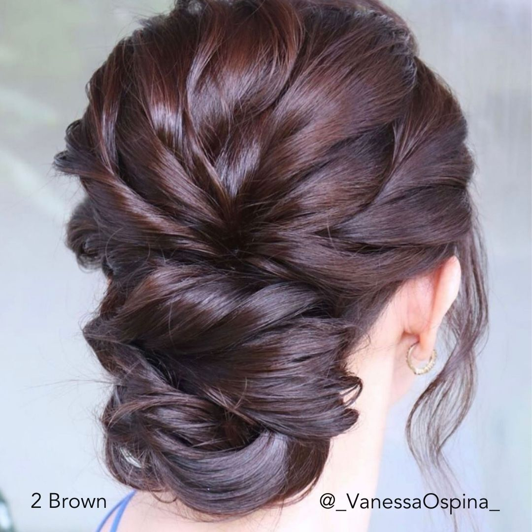 Brown Special Occasion Bridal Updo @_VanessaOspina_ Easy Updo Hair Extensions