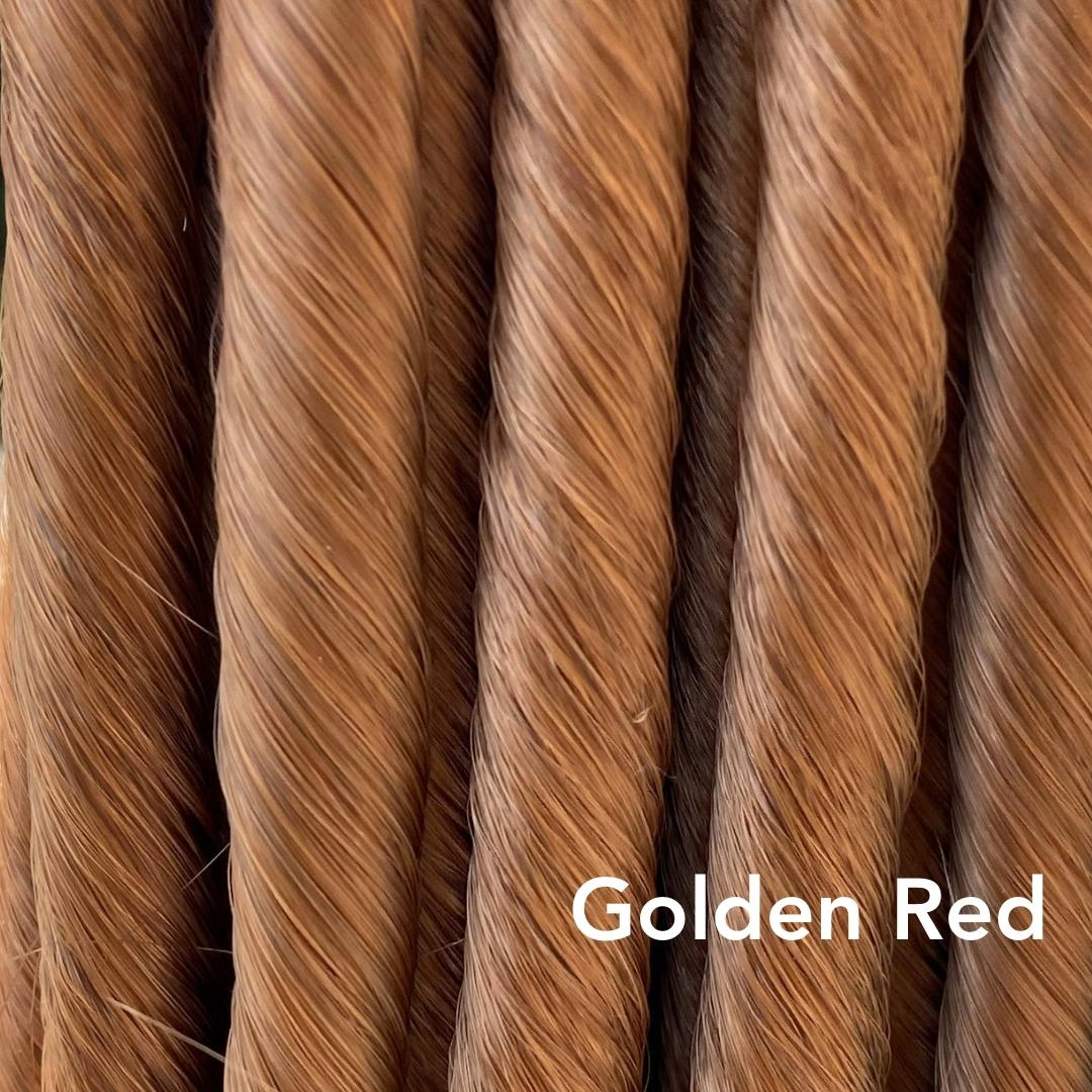 Golden Red Easy Updo Hair Extensions