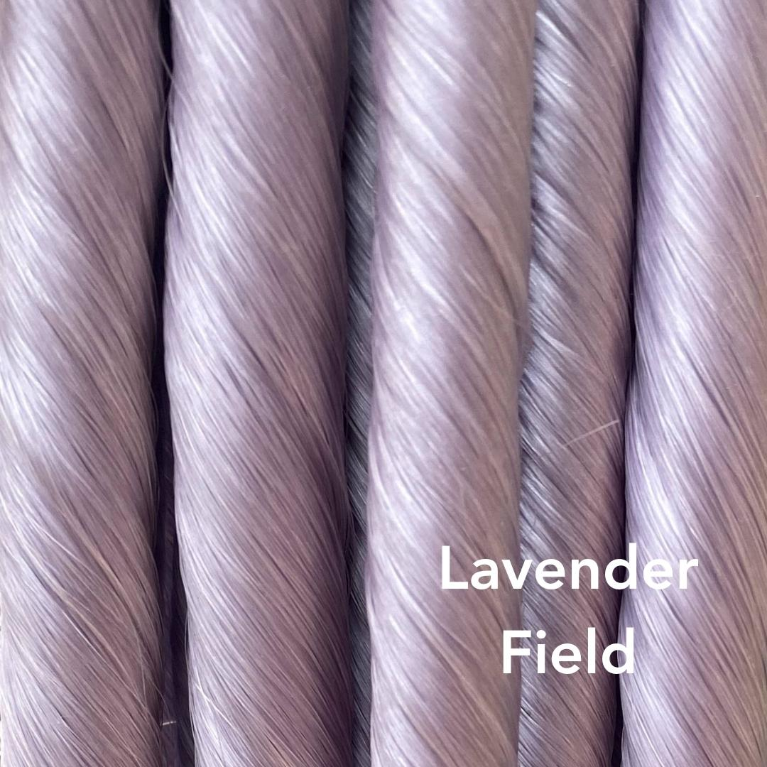 Lavender Field Vibrant Color Easy Updo Hair Extensions