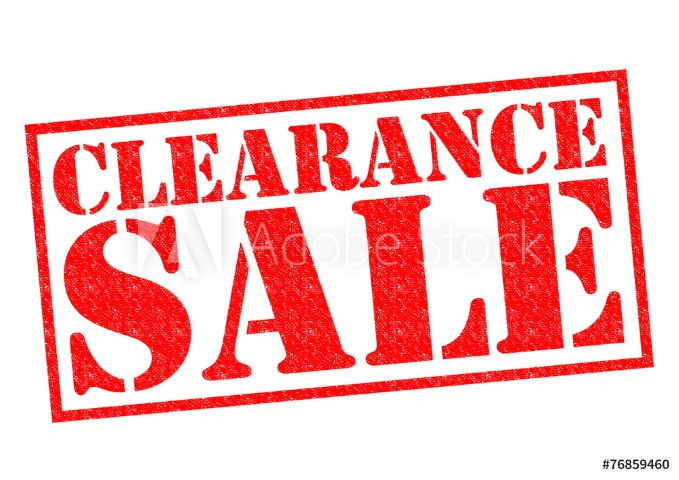 Clearance – Tagged
