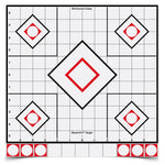 SHOOT•N•C® 12 INCH WHITE / BLACK SIGHT-IN, 5 TARGETS - 55 PASTERS