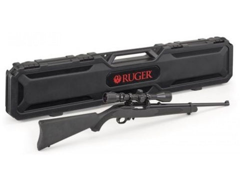 Ruger 10/22 Carbine with Weaver Scope and Hard Case