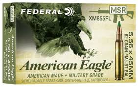 AMERICAN EAGLE 5.56 x 45mm 62gr FMJ 20 ROUND PACK